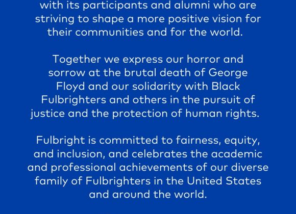 Standing in Solidarity with Black Fulbrighters